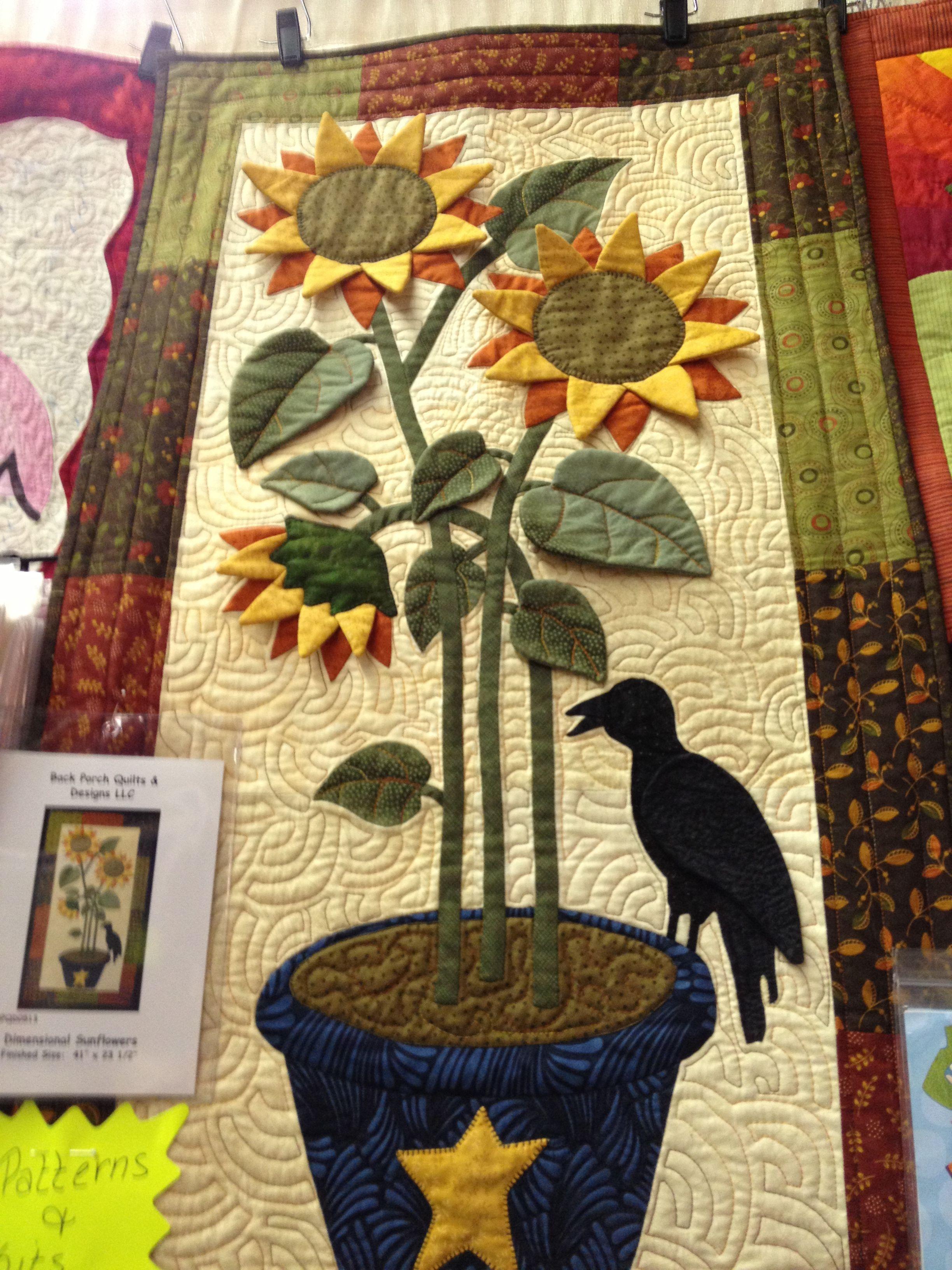 Sunflower wall quilt! … | Pinteres…