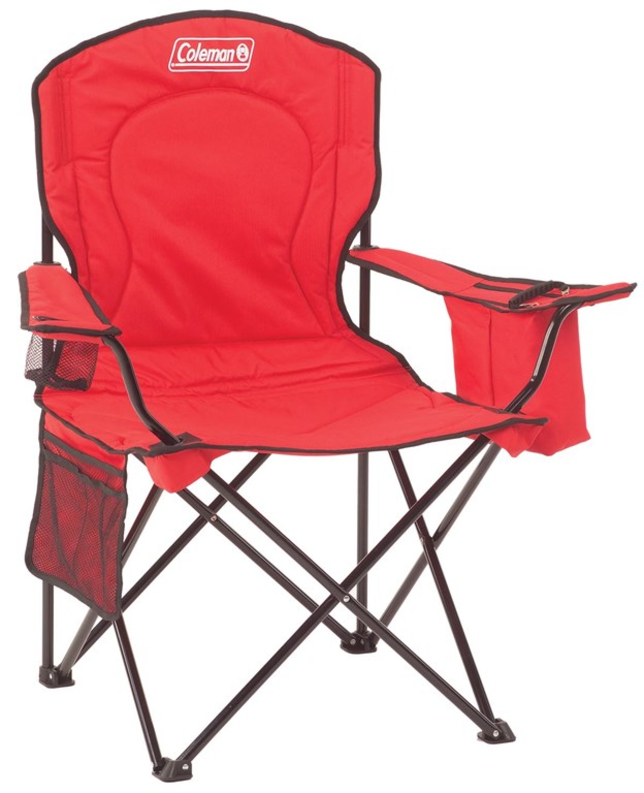 KingCamp Heavy Duty Folding Chair Padded Camping Chair with Mesh Cup Holder Ar