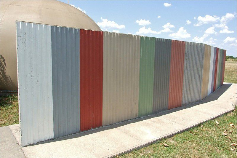 Painted Sheet Metal Attached To Concrete Fence Corrugated Metal Fence Corrugated Metal Wall Fence Design
