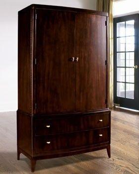 Superbe Armoires · Thomasville Furniture Nocturne Mahogany Door Chest TV ...