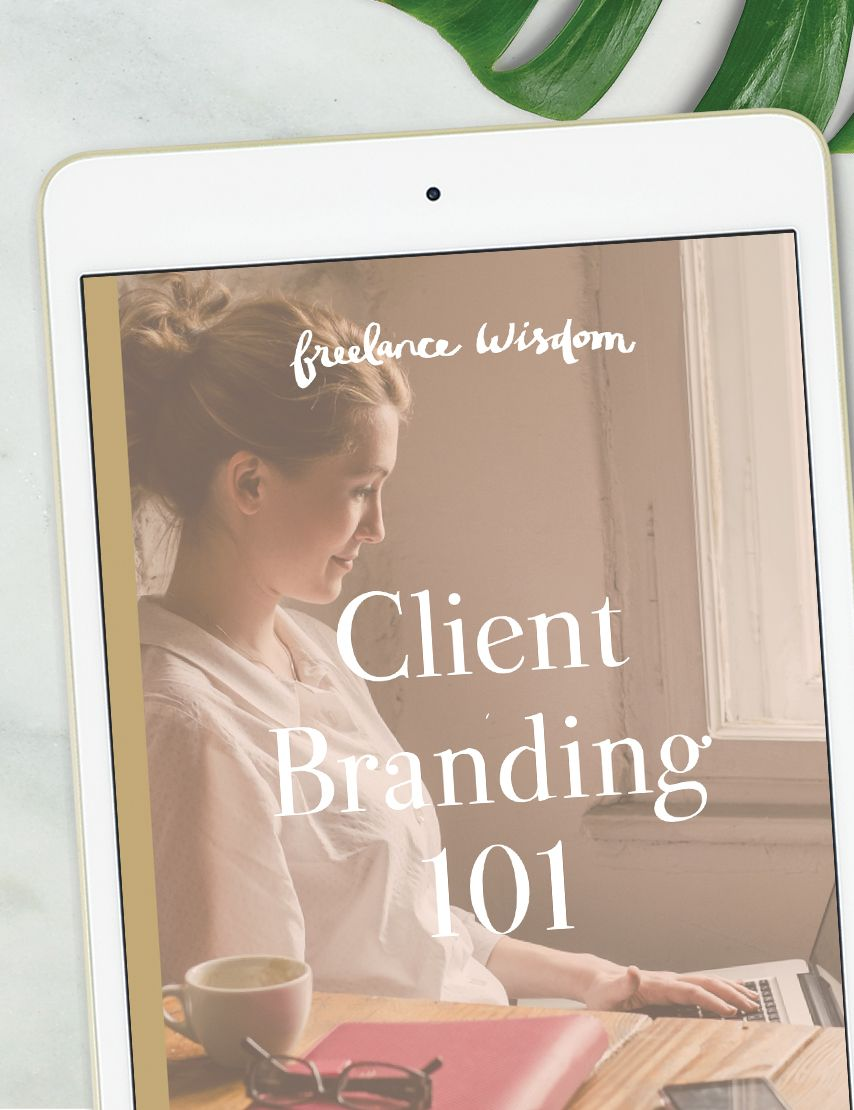 Freelance Wisdom: Client Branding 101 A detailed process guide to designing a beautiful brand for your clients.  -----  This ebook is perfect for helping new (or curious!) freelancers get a head  start in working with small business clients on their branding projects.  This ebook will provide you an in-depth look at the process I go through  when branding a client. The process is broken up into 8 easy-to-follow  steps that will hopefully make the task of taking on a branding client feel  a…