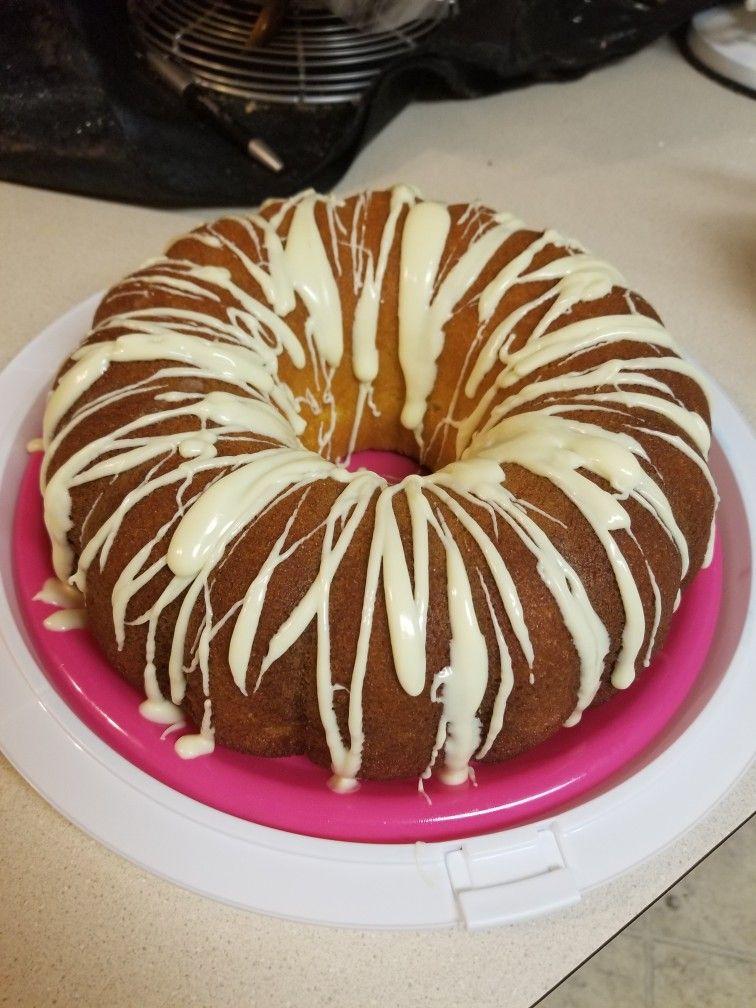 Lemon pound cake i made lemon pound cake food desserts