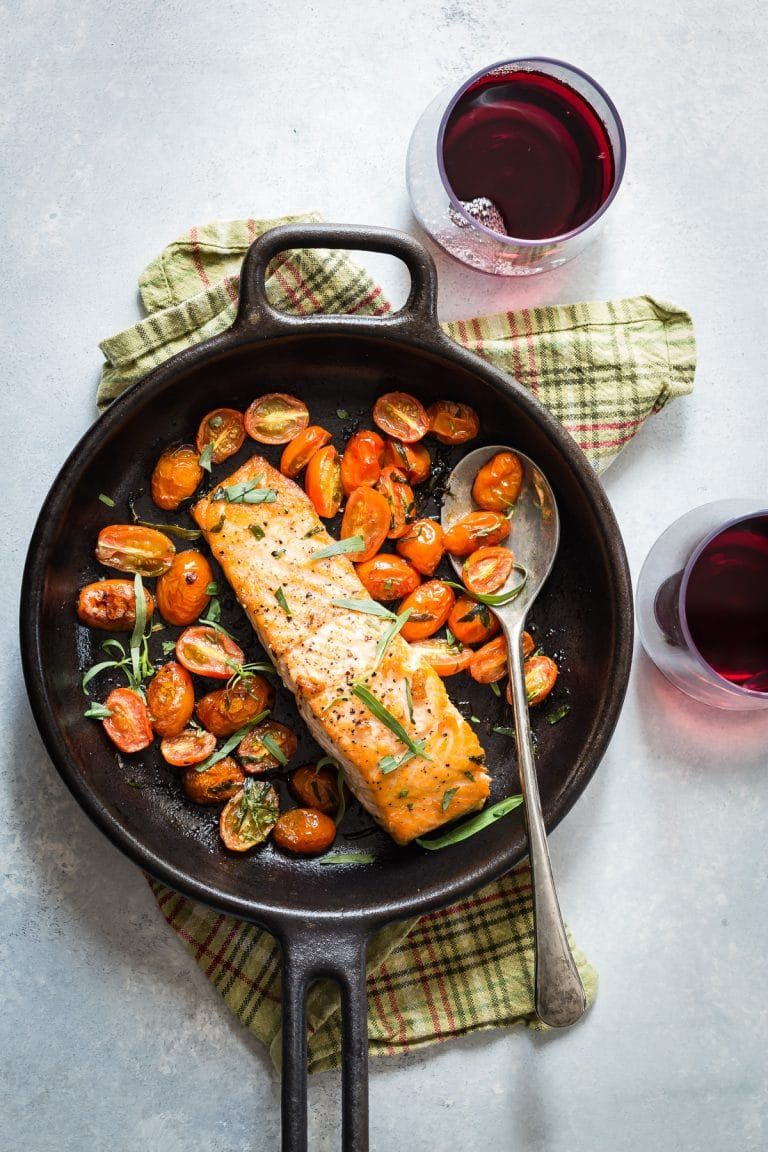 Cast iron skillet seared salmon recipe in 2020 cooking