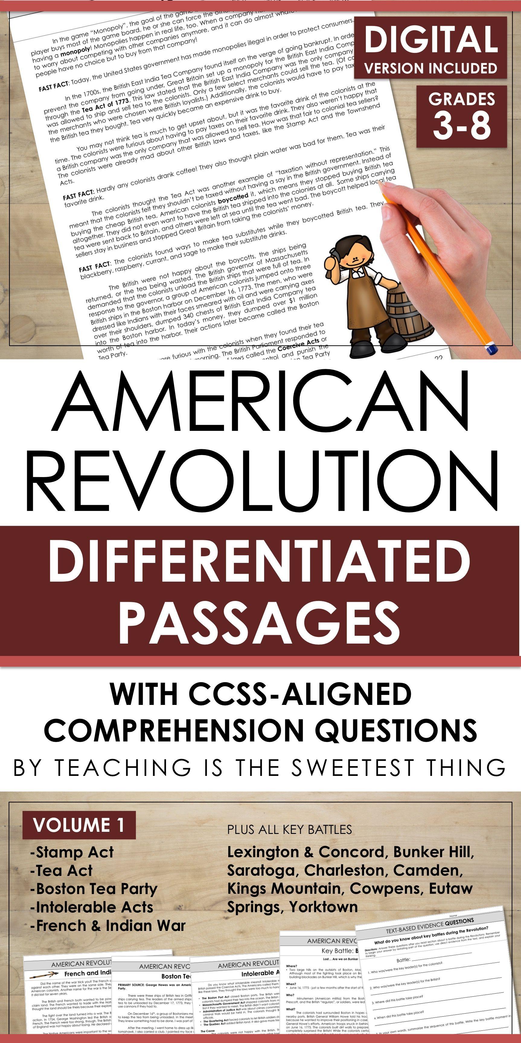 American Revolution Vol 1 Passages