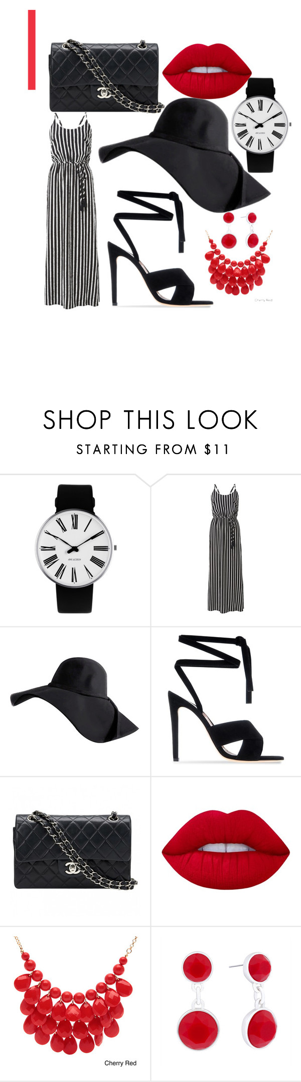 """""""Untitled #24"""" by ellenclx ❤ liked on Polyvore featuring Rosendahl, Witchery, Gianvito Rossi, Chanel, Lime Crime, Alexa Starr and Liz Claiborne"""