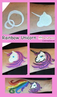 Wonderlijk Rainbow Unicorn Step-by-Step Guide (met afbeeldingen) | Schminken UA-86