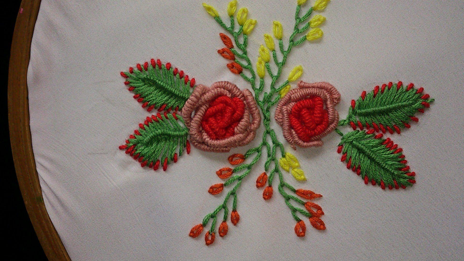 Hand embroidery bullion knot rose leisha s galaxy