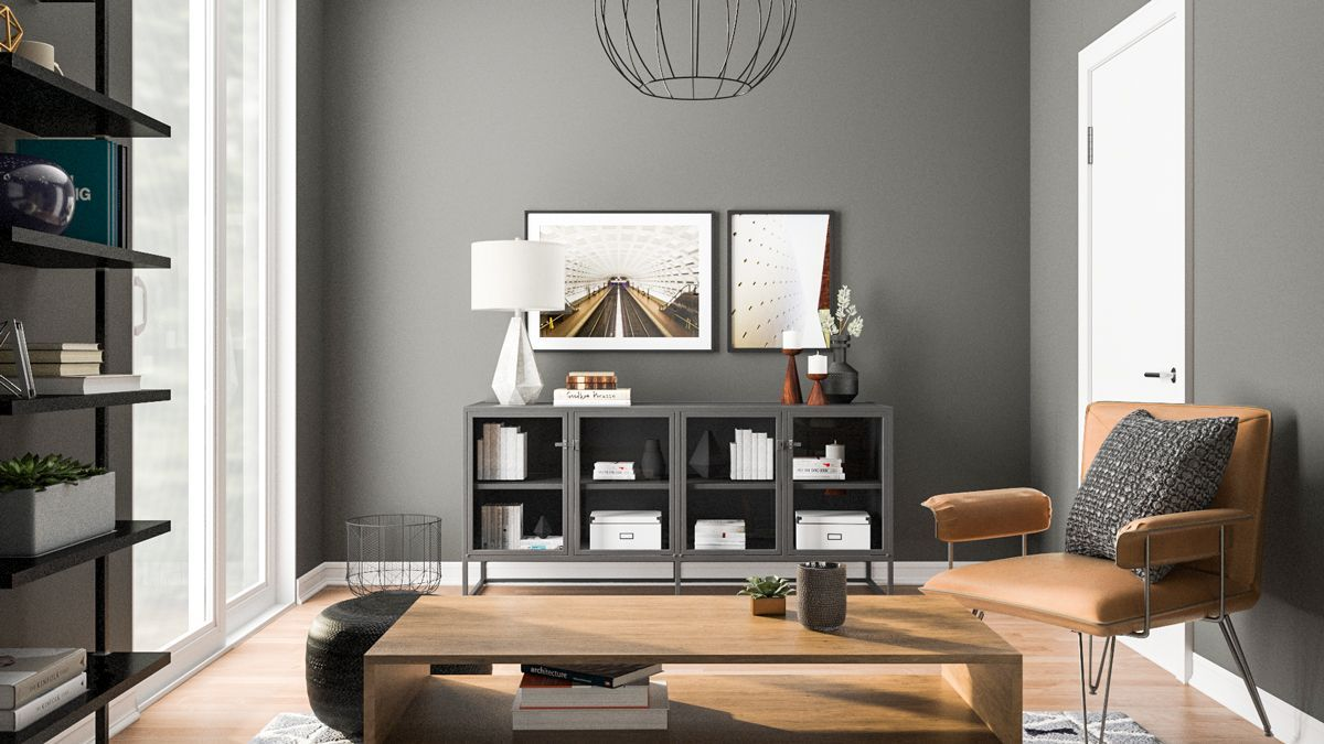 atomic industrial living room design inspiration industrialdecor rh pinterest com