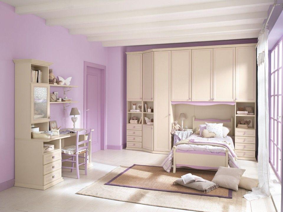 Cameretta Winx ~ Camerette arcadia scrivania per bambini finitura magnolia e giada