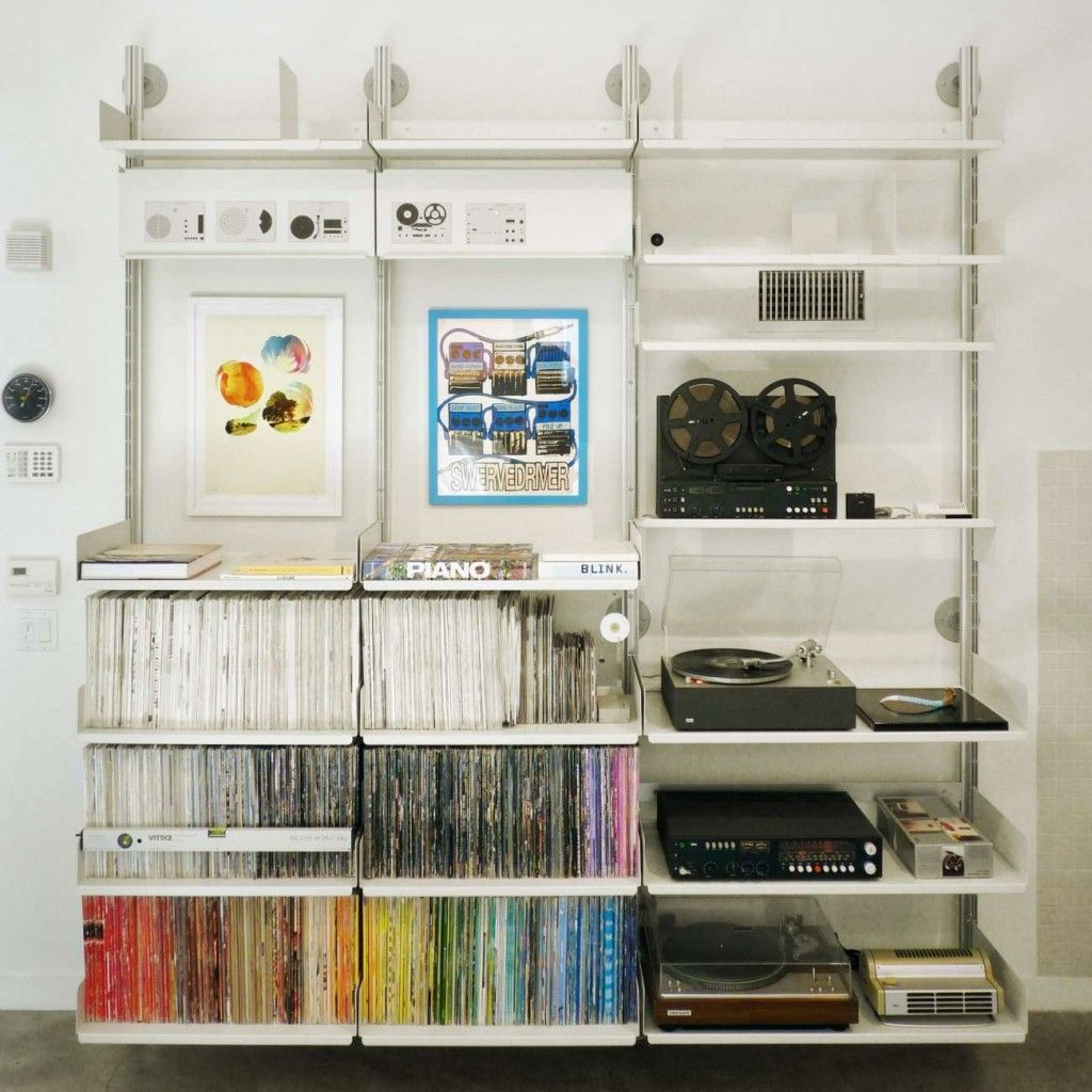 Twin slot shelving from B&q can have peg board option as well as ...