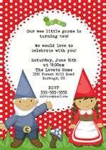 Bear River Photo Greetings: Gnome Birthday Party Invitations