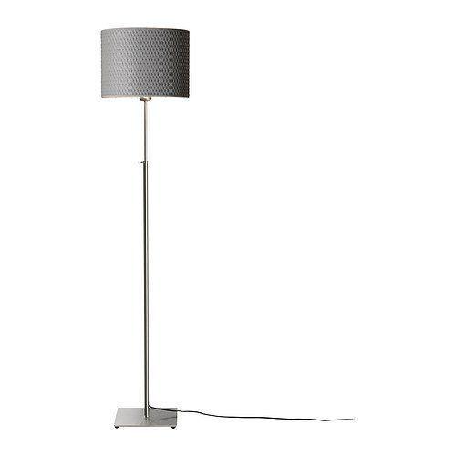 Modern Floor Light With Round Grey Lamp Shade In 2020 Ikea Floor Lamp Floor Lamp Grey Modern Floor Lights