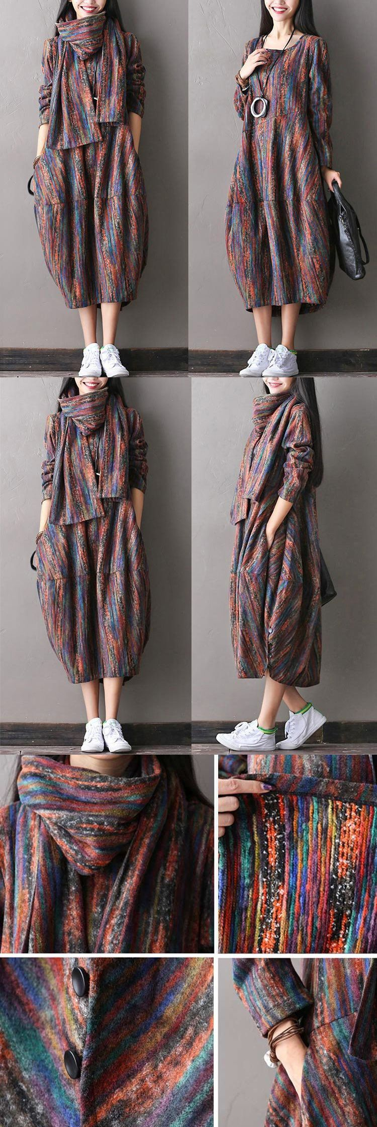 Women woolen autumn dress for a charming look! buykud.com #backlesscocktaildress