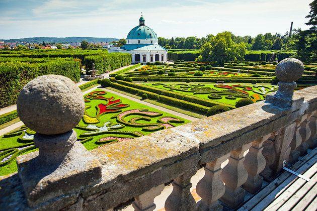 Krom Palace garden Czechia castle chateau czechia