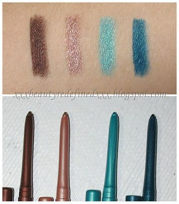 BeautyRedefined by Pang: NYX Retractable Eye Liner Swatches and ...