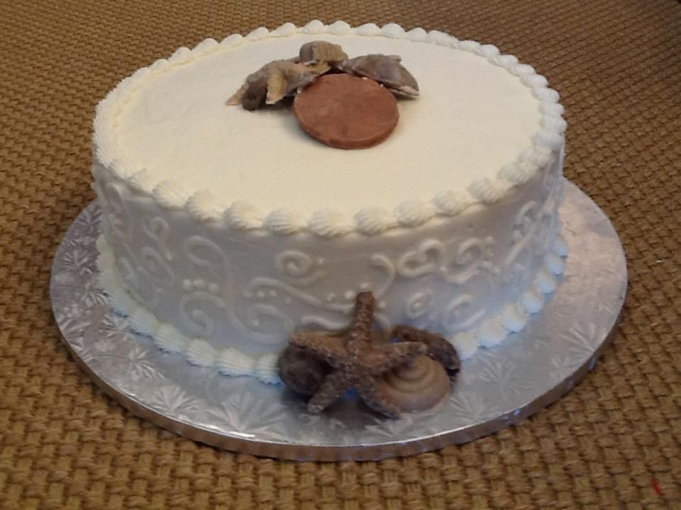 beach themed wedding cakes pinterest%0A A cake like this would be at home at a beach BBQ or a wedding reception