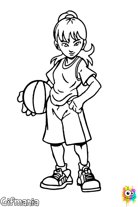 niña baloncestista #baloncesto #chica #deporte #dibujo | I°m°á°g°e°n ...