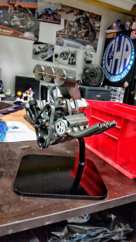 top fuel nitro engine desk topper metal art motorsports racing cars rh pinterest com