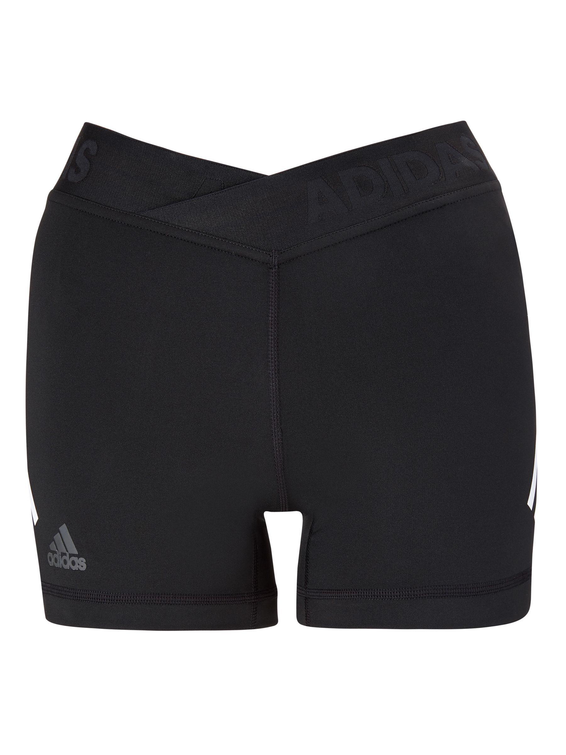 adidas Alphaskin Sport 3 Stripes Short Tights, Black