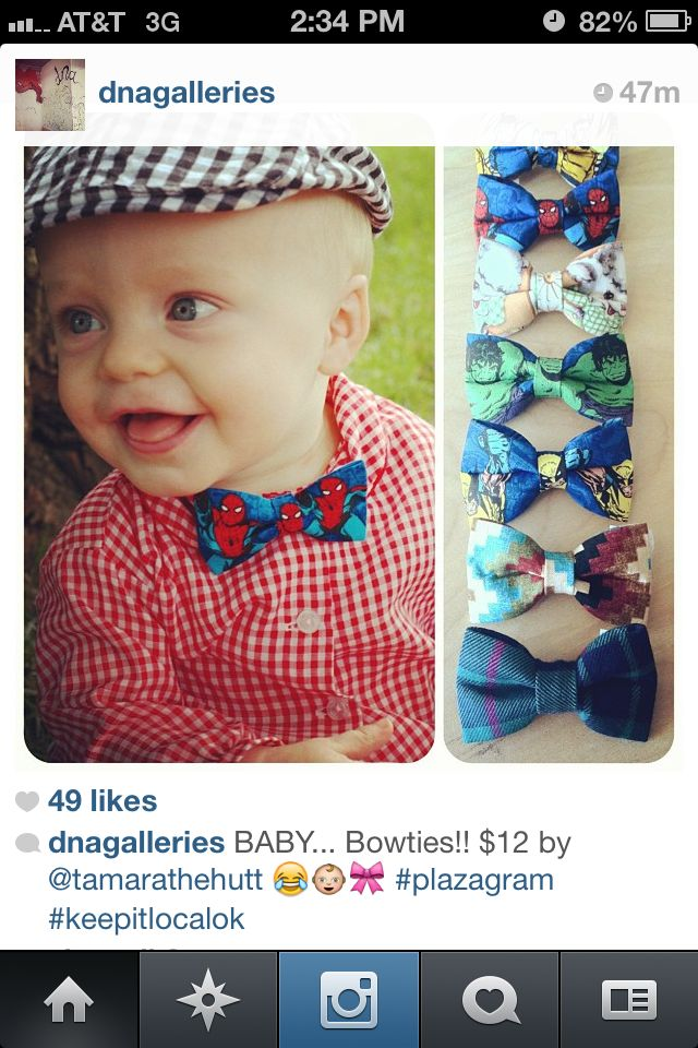 Love these Baby Bow Ties @ DNA Galleries in OKC