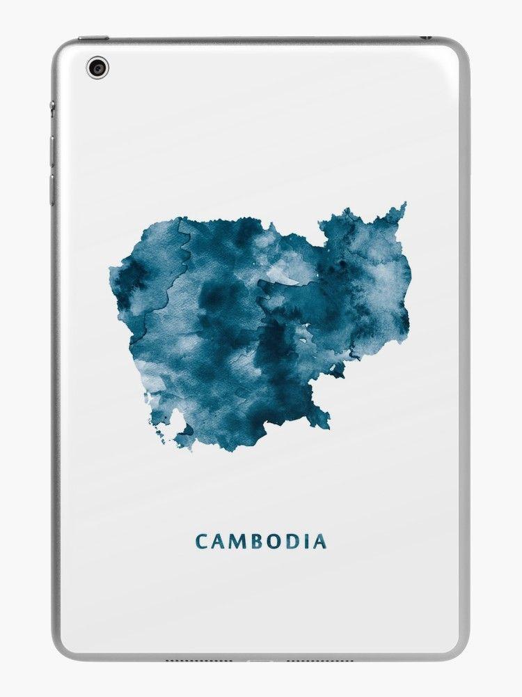 Cambodia cambodia asia state map art print