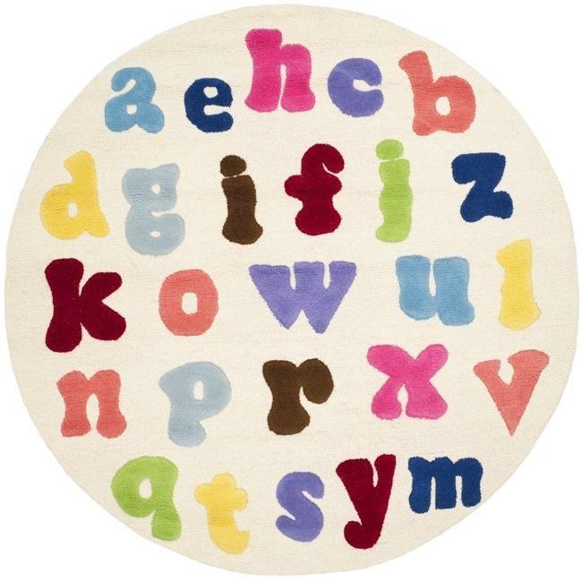 Redesign Kids Room Safavieh Handmade Children S Alphabet Ivory N Z Wool Rug 6