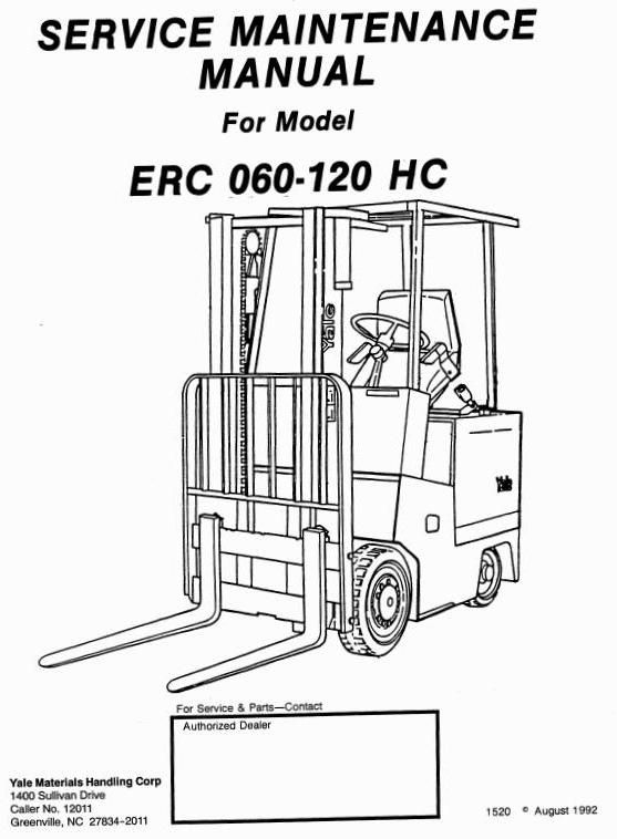 Original Illustrated Factory Workshop Service Manual For Yale Rhpinterest: Electric Forklift Wiring Diagram At Cicentre.net