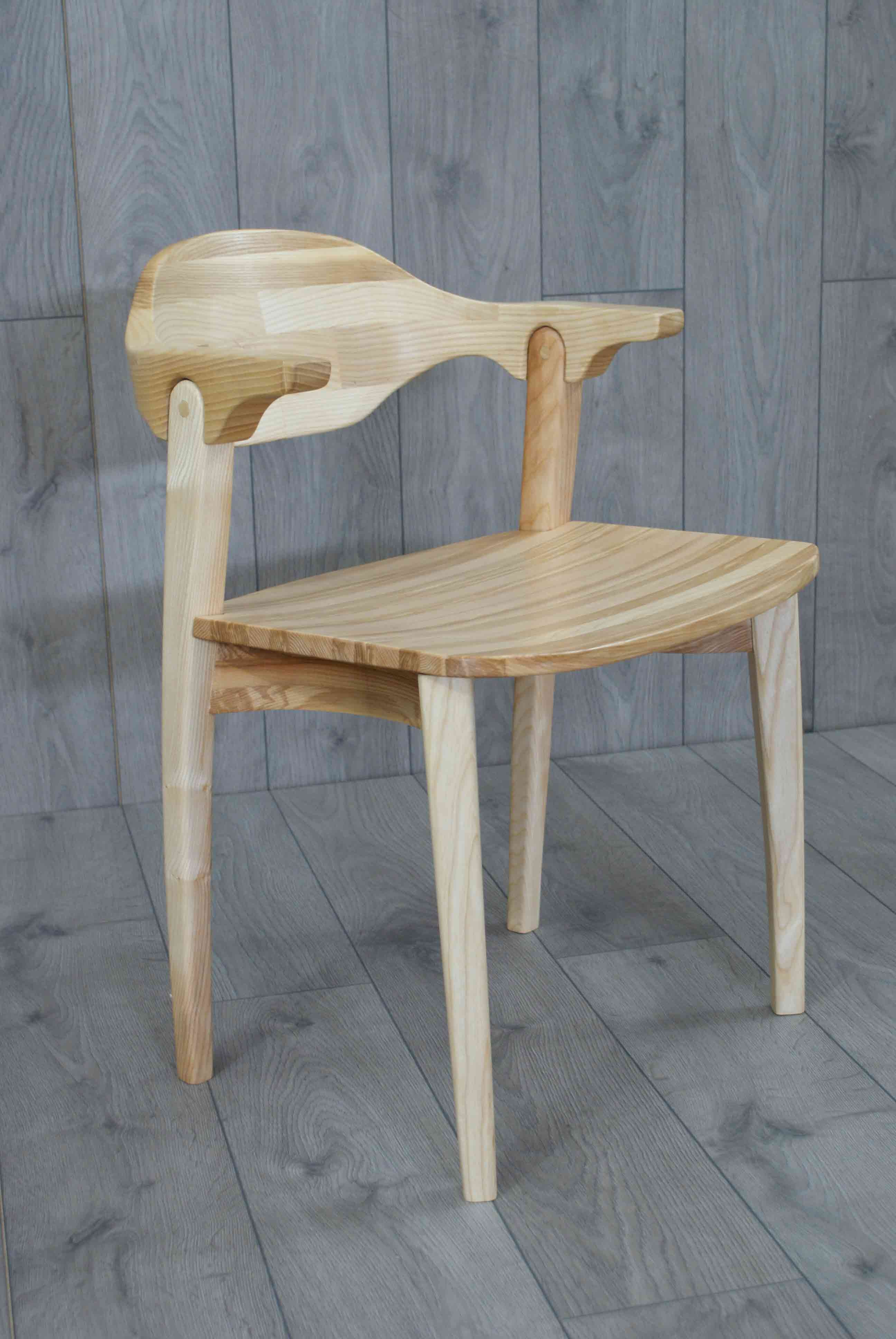 Valentine chair made from olive english ash designed and