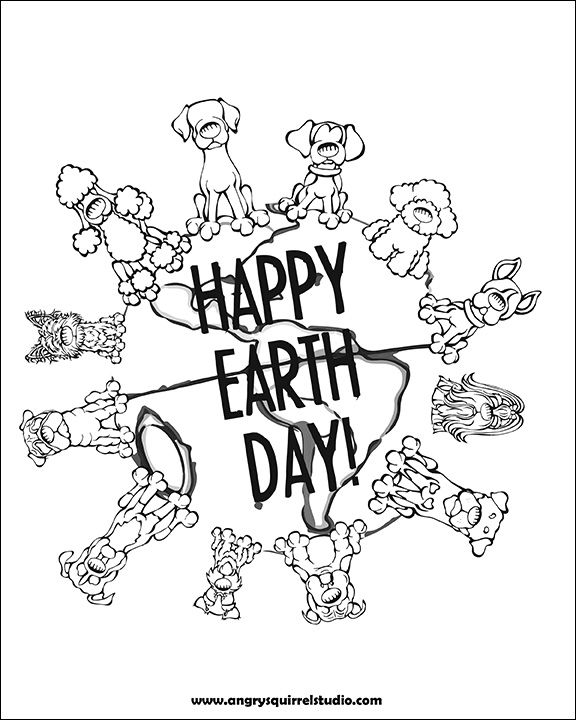 Happy Earth Day Celebrate with this free coloring page http