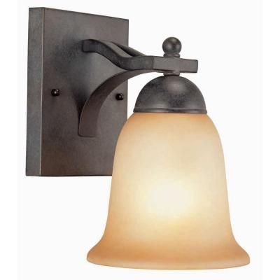 commercial electric 1 light rustic iron sconce ess1311 the home rh pinterest co uk