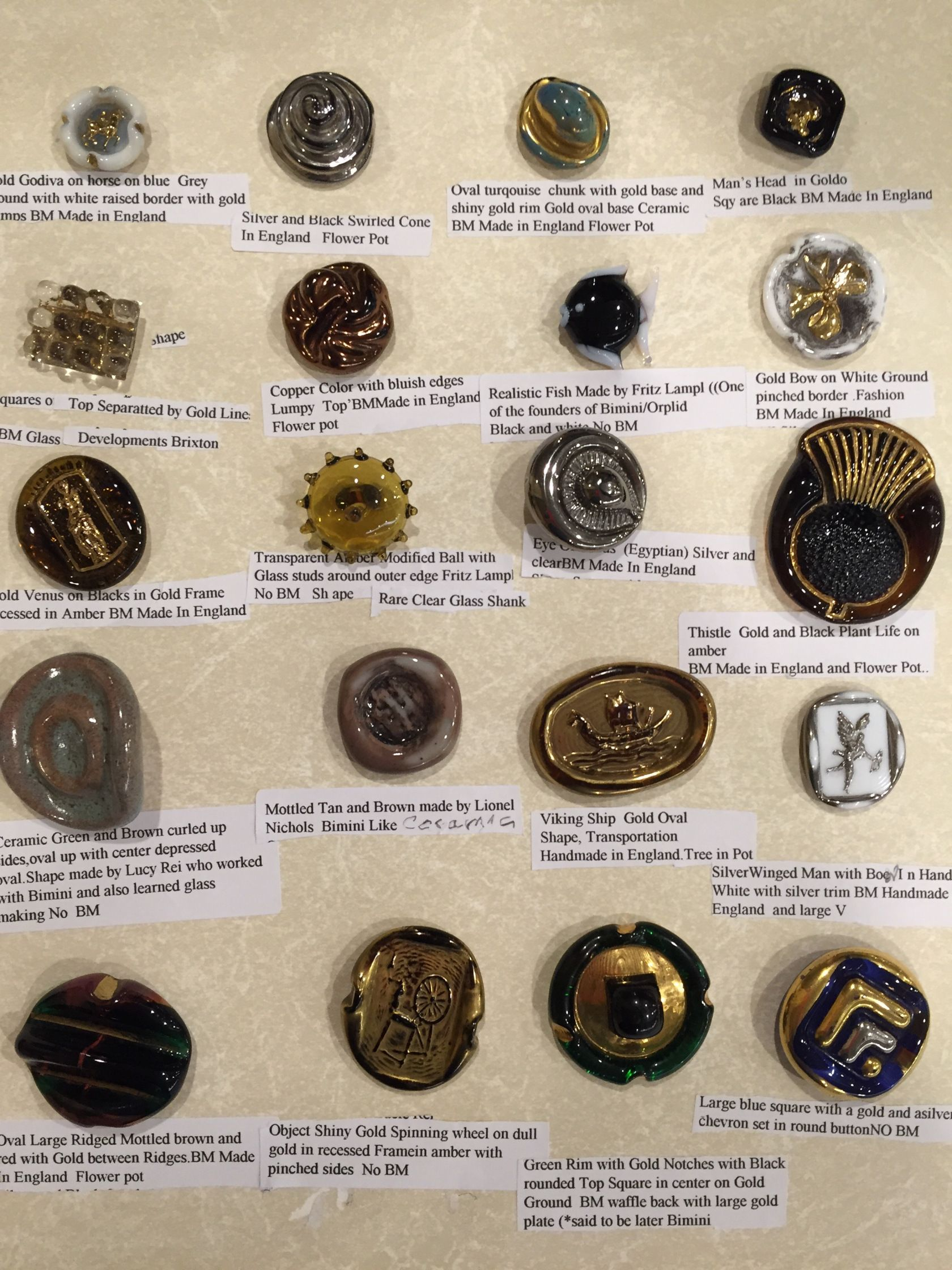 30 Clear Button Shank Vintage Buttons