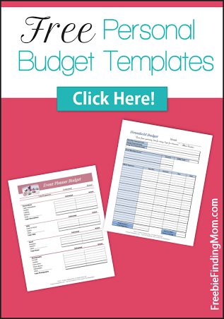 free personal budget template printables get organized budgeting