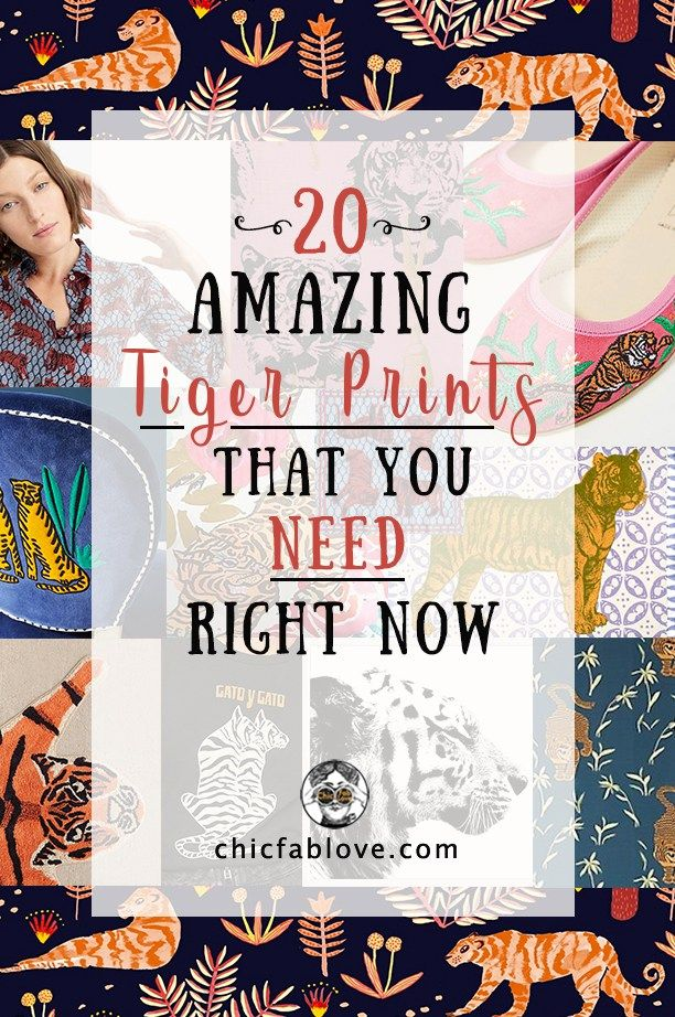 20 Amazing Tiger Prints That You Need Right Now Tiger Print Fall Chic Prints