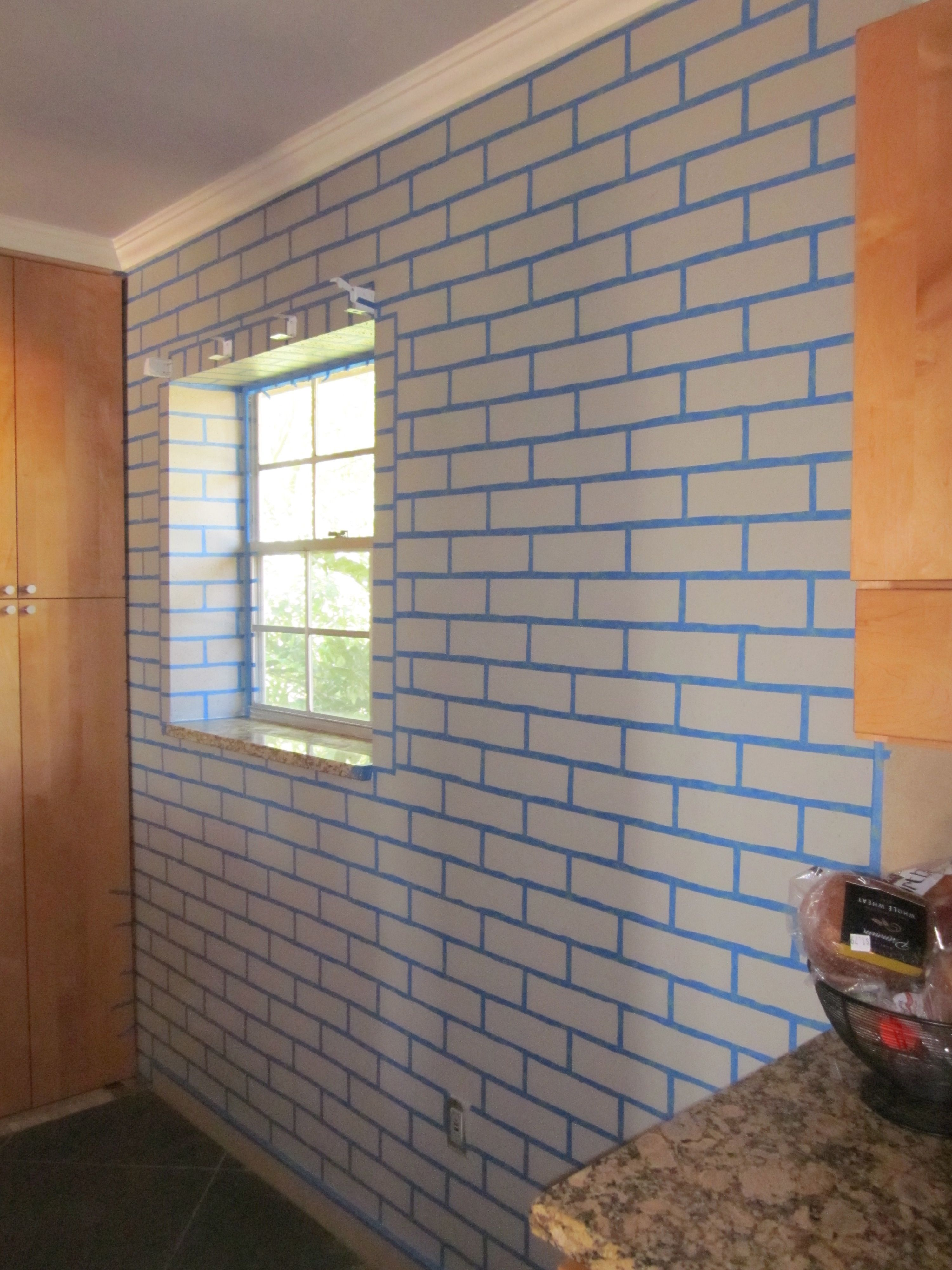 painting a realistic faux brick wall - Interior Faux Brick Wall Ideas