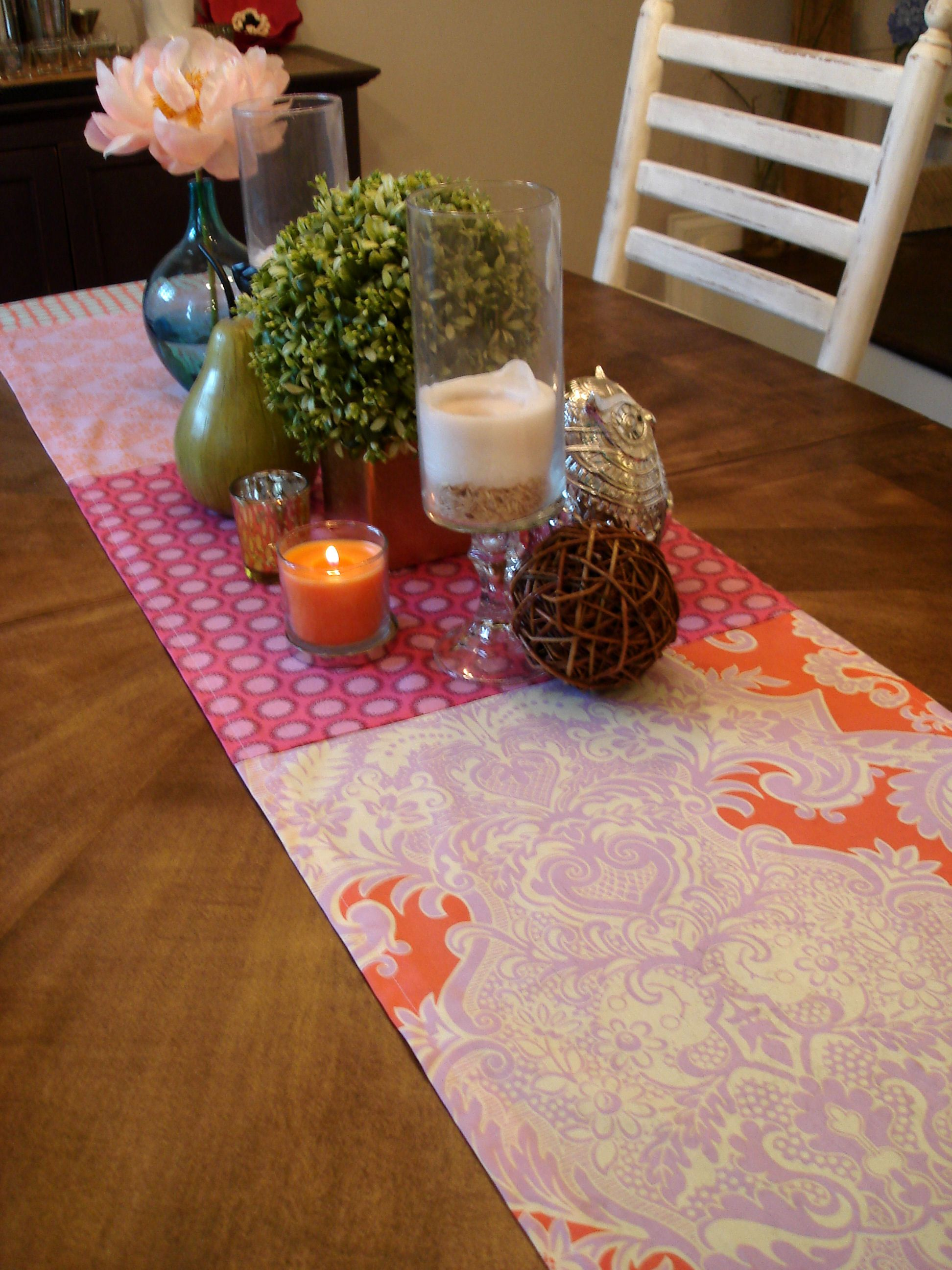 fat quarters excellent for easy to make table runner