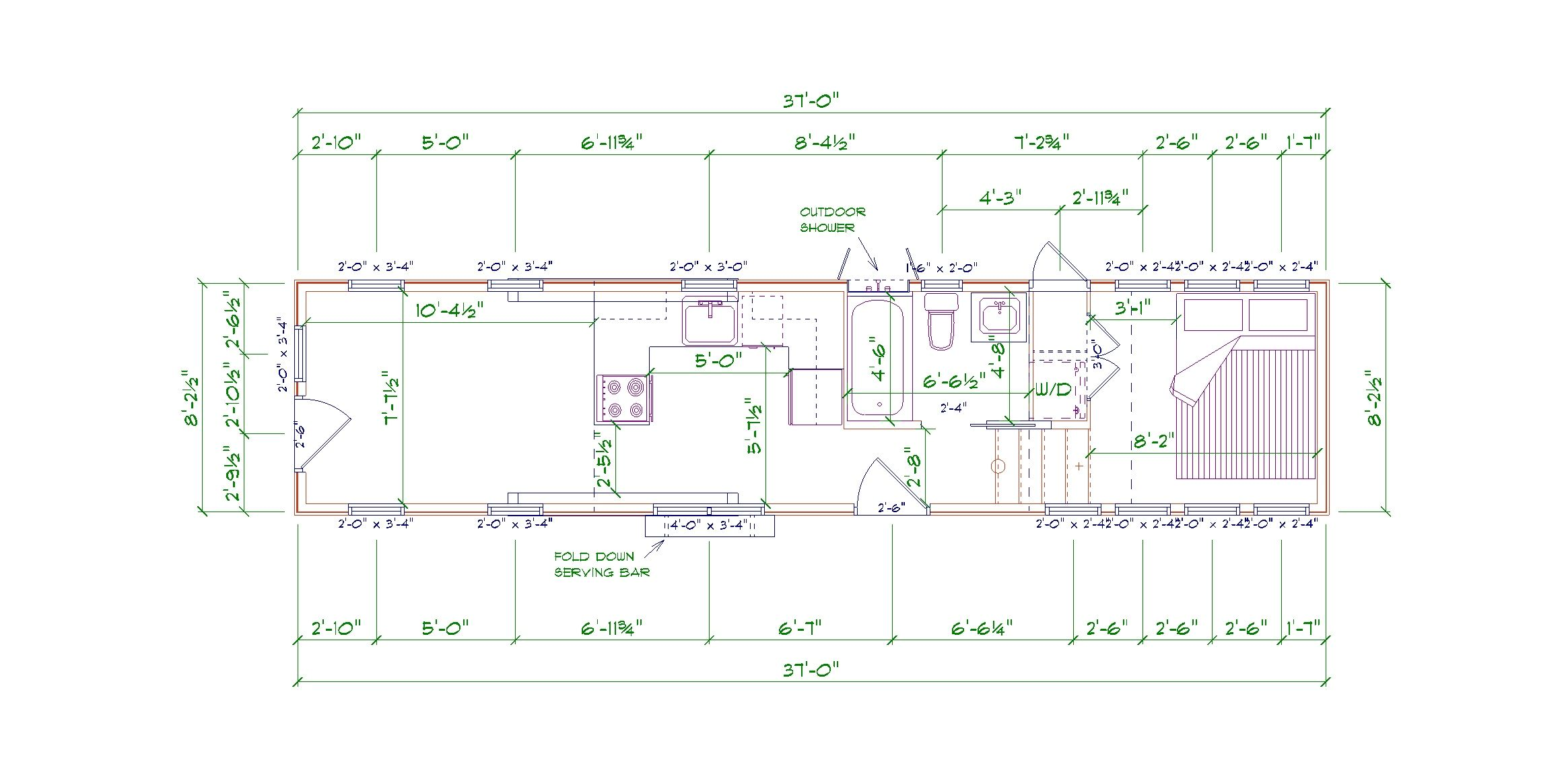 Timbercraft Denali Floorplan 37' gooseneck | Timbercraft