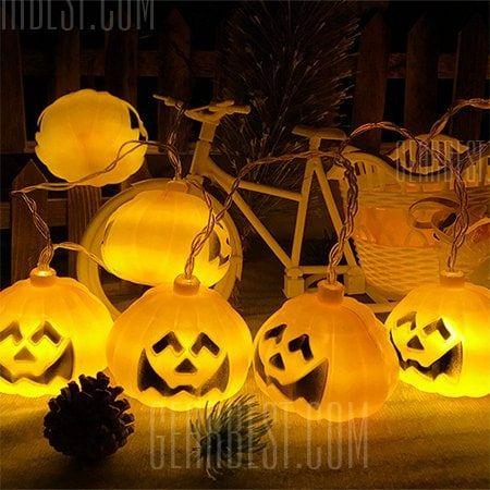 Halloween Jack-o-lantern USB Pumpkin String Lights in 2018