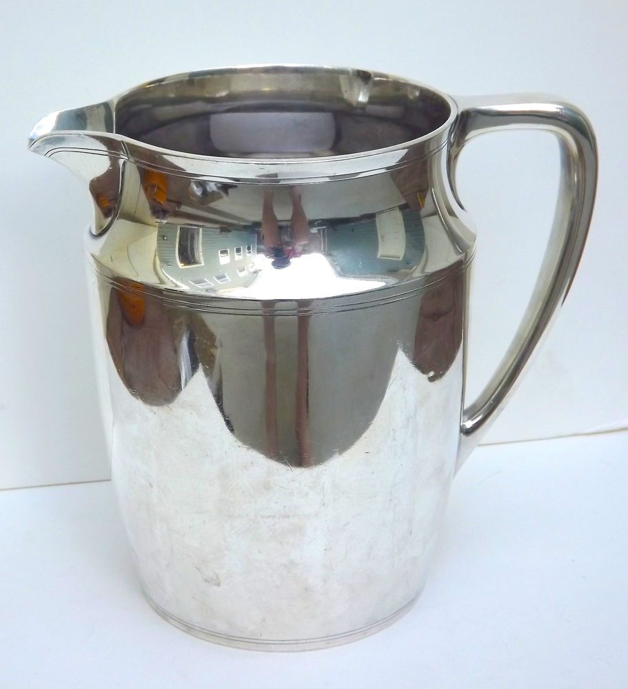 Charming Sterling Silver PITCHER Deco 1930u0027s Vintage Barware