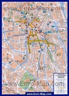 Туристическая карта Гента с достопримечательностями   карты ...