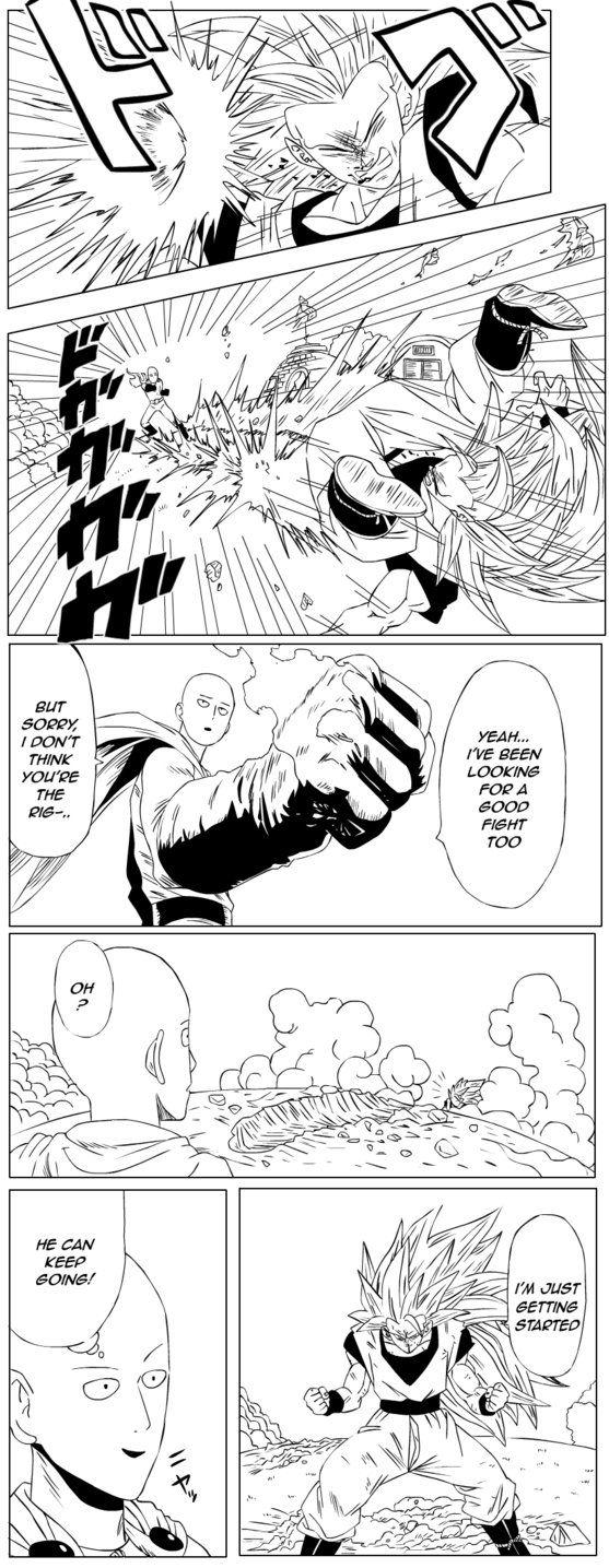 Goku Vs Goku Saitama