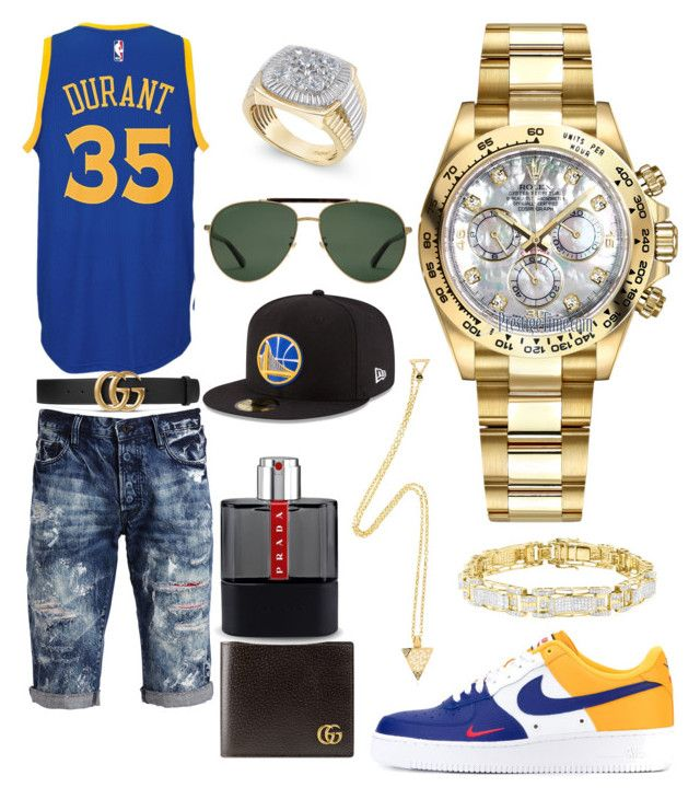 """Casual"" by pitbull8382 on Polyvore featuring NIKE, adidas, PRPS, Gucci, Prada, Rolex, Marco Ta Moko and New Era"