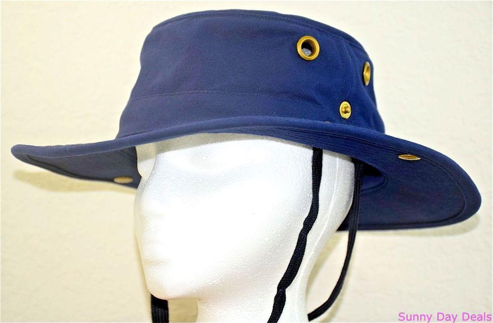 Tilley Hat T3 Snap Up Brim Cotton Duck UPF50 Endurables Canvas Navy Blue  7.5 L  Tilley 605c9902204