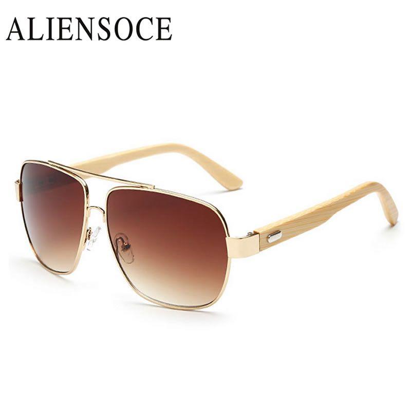 5fe88d83da Retro Bamboo Sunglasses Gold Mirror Men Women gg Wooden Sunglasses Metal  Glasses Brand Designer Wood Sun