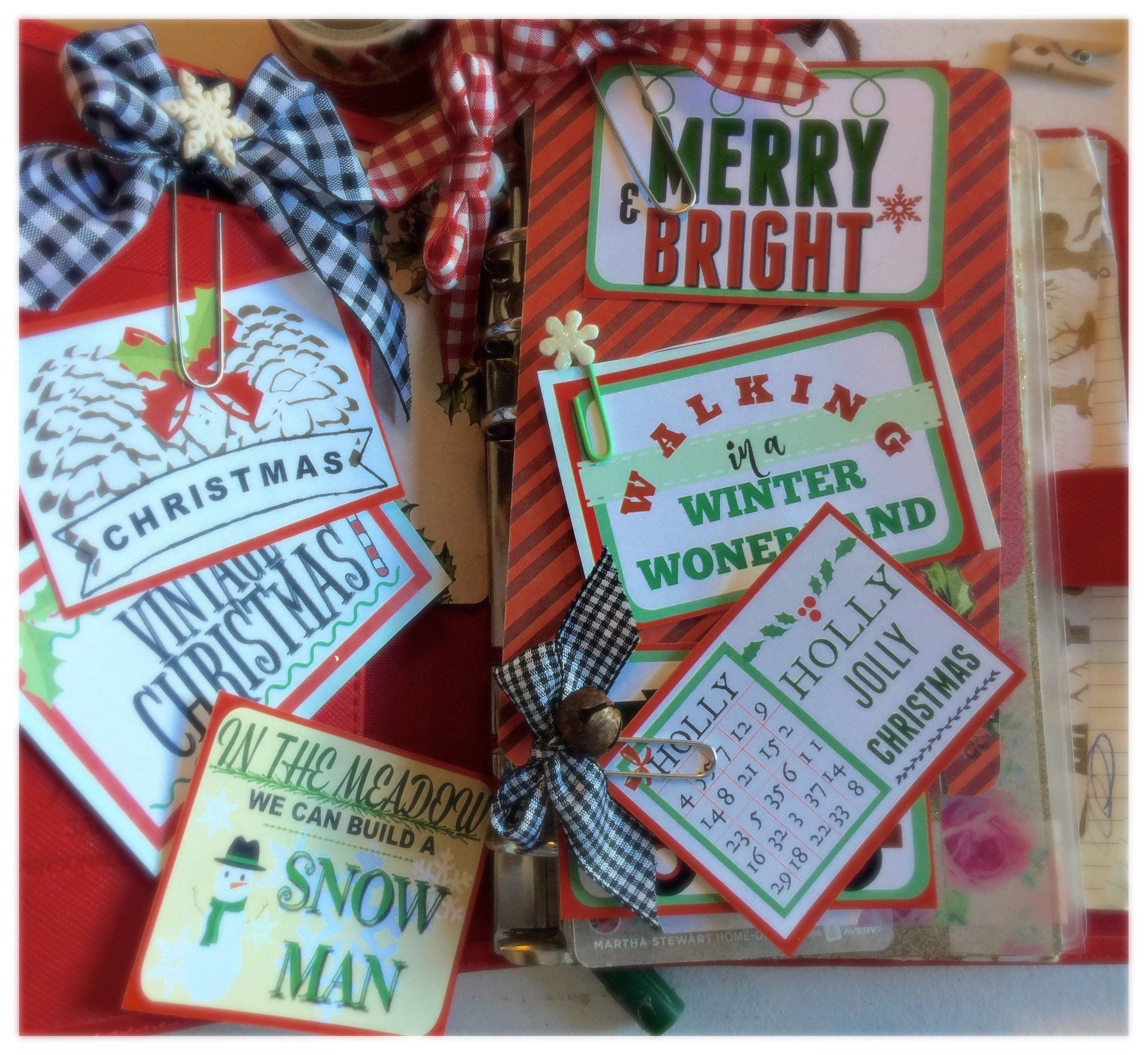 Vintage Style Christmas Planner Journal Clipart Christmas