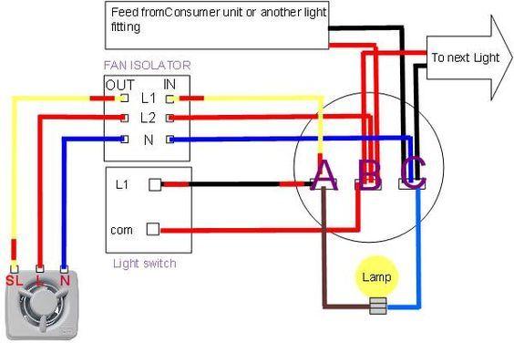 extractor fan wiring diagram electrical pinterest ceiling fan rh pinterest com au