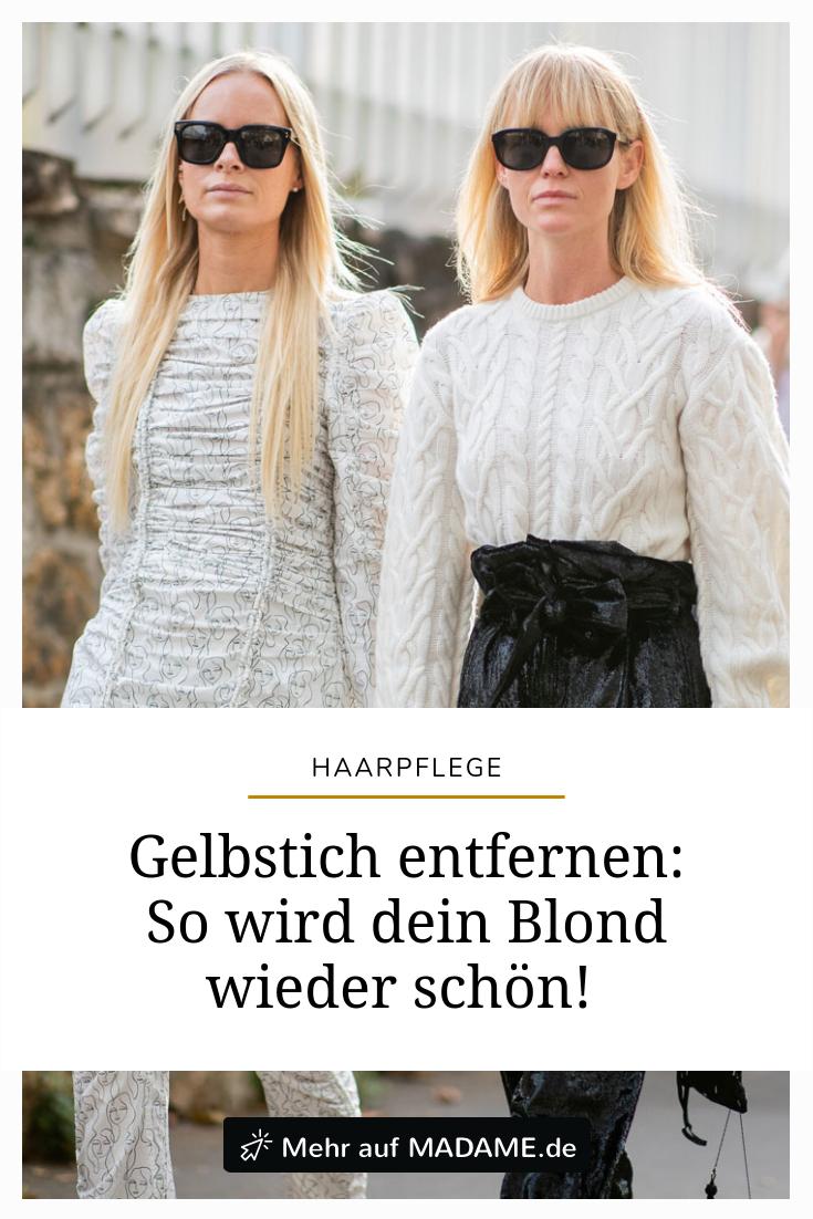 Gelbstich Entfernen 5 Sos Tipps Für Blondiertes Haar Frisuren