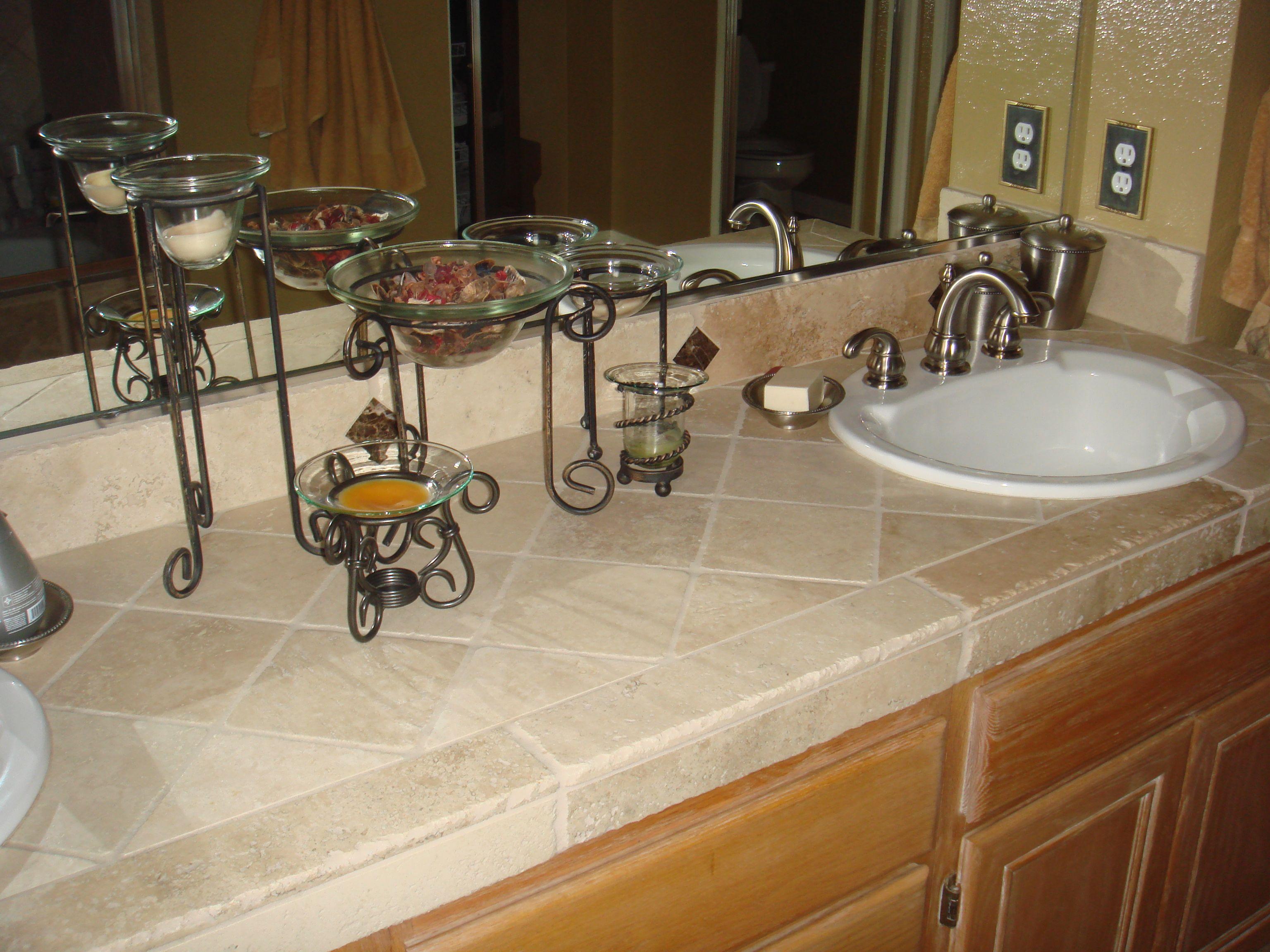 Bathroom tile counter tile bathroom tiled countertop