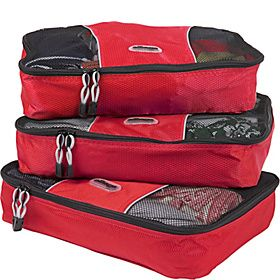 eBags Medium Packing Cubes - 3pc Set - Raspberry - via eBags.com!~~I LOVE these for travel! Keeps things so organized.~~