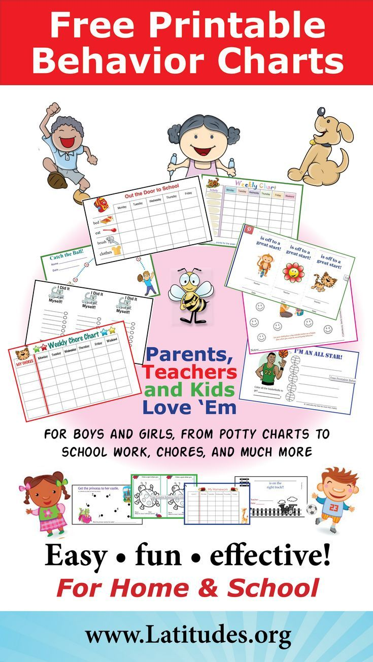 free printable behavior charts for home and school adhd add rh pinterest com