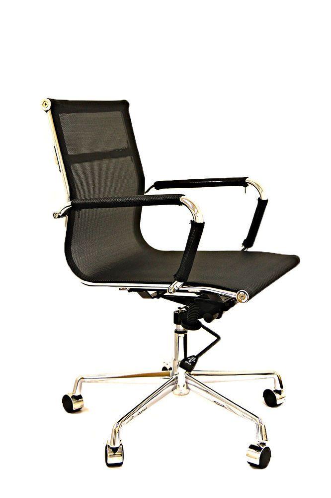 details about mesh office chair recline height tilt adjust chrome rh pinterest com